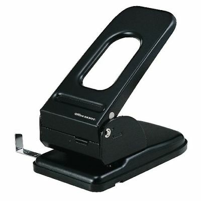 Office Depot Heavy Duty Metal 2 Hole Punch - Up to 65 Sheet Capacity Black