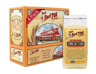 Bob's Red Mill Semolina Pasta Flour, 24-ounce Pack of 4