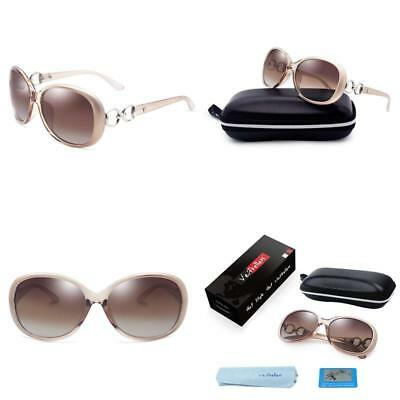 1b3f54dcac12 VeBrellen Luxury Women Polarized Sunglasses Retro Eyewear Oversized Goggles  Eyeglasses YJ021-hei-zi