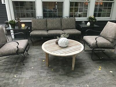 Vintage MeadowCraft Wrought Iron Patio Furniture updated and gorgeous