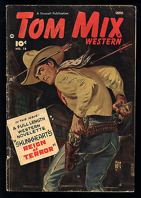 Tom Mix Western (1948) #18 1st Print Canadian Norman Saunders Painted Cov GD/VG