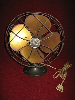 """Antique Emerson Electric Fan Type 6250-D 10"""" Made in USA circa 1937"""