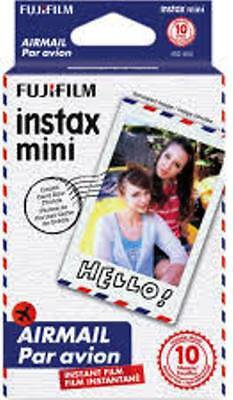 Fujifilm Instax Mini Film Air Mail border 10 Photo Sheets per box