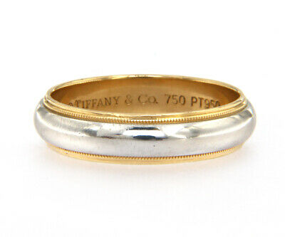 205acd221 PLATINUM BAND RING Size 6 Weight 8.25 grams Signed WL PLAT Milgrain ...