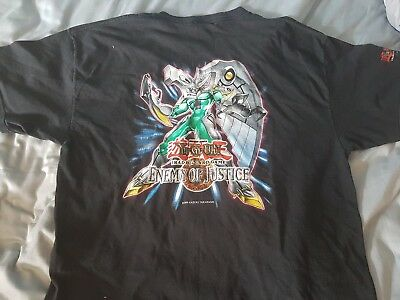 Official Yugioh Sneak Preview Enemy of Justice T Shirt - size XL - never worn