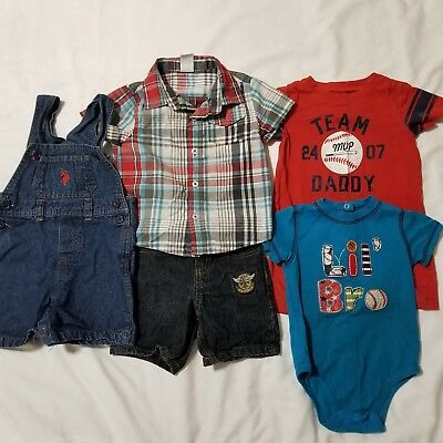 db17affe465a LOT OF 5PC  Boys 3-6M BabyGap Winter Sweater Romper Jeans Pants ...