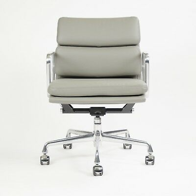 Eames Herman Miller Soft Pad Aluminum Group Chair Gray Leather 2011 Sets Avail