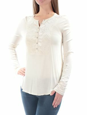 0996f84bb4a0f9 LUCKY BRAND $90 Womens New 1522 Ivory Printed Tie Sheer W/O Cami Top ...
