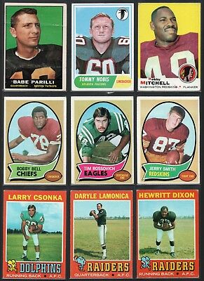 2ec1fdc57a2 VINTAGE TOPPS FOOTBALL (107) Card Lot! 1961-1979 * HALL OF FAME ...