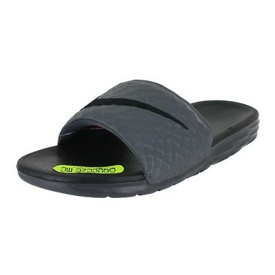 Nike Benassi Solarsoft Dark Grey Black 705474 090 Mens Us Sizes
