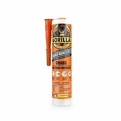 2 X Gorilla Grab Adhesive Glue Heavy Duty 290ml Cartridge Free Delivery