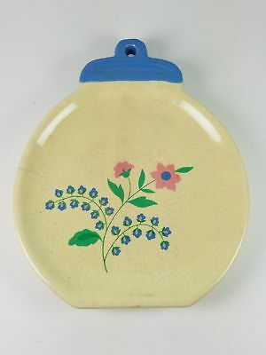 Floral Painted Hanging Wall Flat Vase 625 Inch Diameter 1599