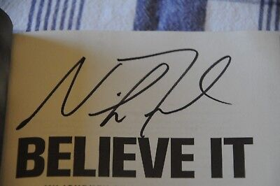 9b2c970c40e EAGLES NICK FOLES In Person Signed Book Believe It Super Bowl MVP 1 ...