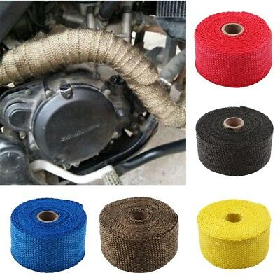 Motorcycle Exhaust Header Heat Wrap Tape Heat Wrap Pipe Bandage Tape Roll Tool