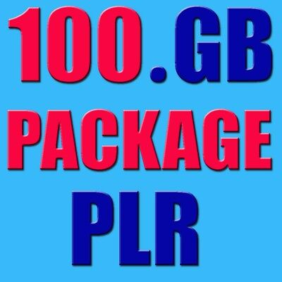 100 GB plr products ebooks videos tutorial 4 online projects affiliate marketing