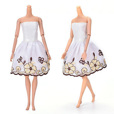 "Fashion Beautiful Handmade Party Clothes Dress for 9"" Barbie Doll Mini 10 LR"