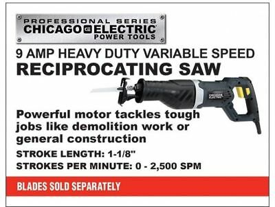 Reciprocating Saw - 9 Amp Professional Variable Speed