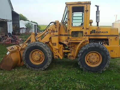 1978 FIATALLIS 345B Wheel Loader, runs good, cab, decent tires, strong batteries