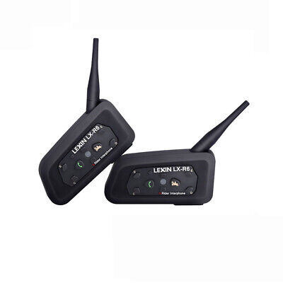 2 x BT Bluetooth Wireless Motorcycle Helmet Interphone Intercom Headset 6 Riders
