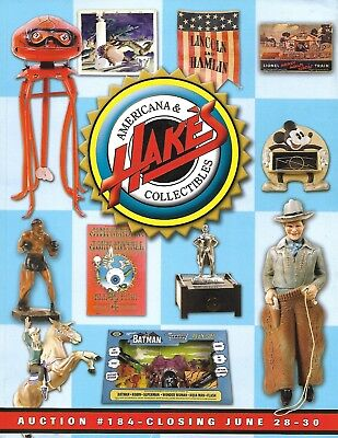 americana &Hakes collectibles auction #184- closing June 28-30