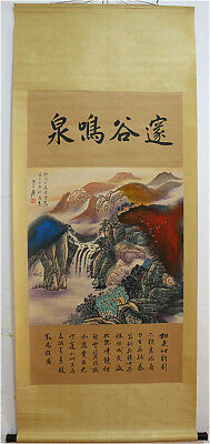 Excellent Chinese 100% Handed Painting & Scroll Landscape By Zhang Daqian 张大千 B4