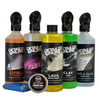 Car Exterior Cleaning Kit Valeting Detailing  Ceramic Wax Sio2 Clay Iron