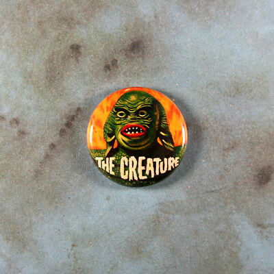"Vintage Style Pinback Button 1"" Creature from the Black Lagoon Horror Monster"