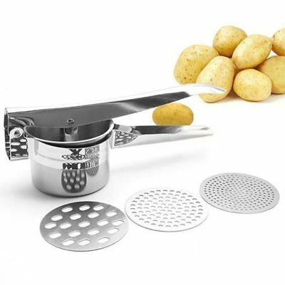 Food Strainer Potato Ricer and Masher 3 Ricing Discs Stainless Steel Food Press