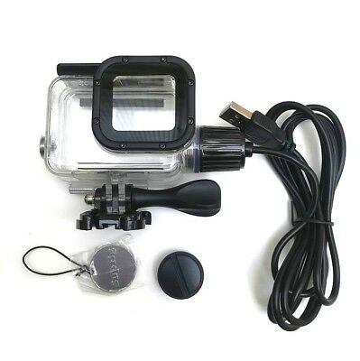 Waterproof Housing Shell USB Charging Protective Case For GoPro Hero 6/5 Clear