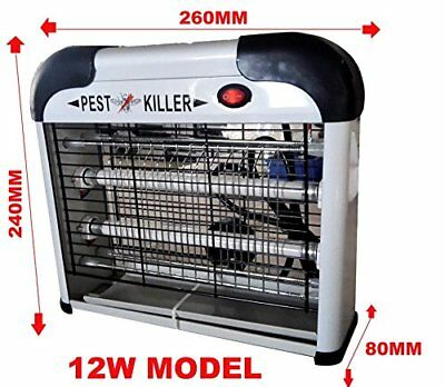 2 x 6W 12W UV INDUSTRIAL ELECTRIC FLY INSECT BUG MOSQUITO KILLER PEST ZAPPER