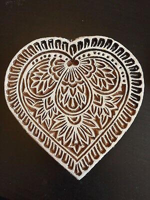 Heart Wooden Printing Block (WB 59)