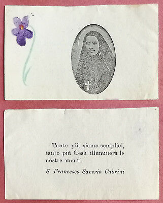 Santino Holy Card: S. Santa Francesca Saverio Cabrini