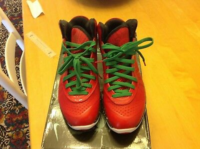 outlet store 8c6ff 21140 2010 NIKE LEBRON 8 V 2 CHRISTMAS sport red white black victory green xmas SZ