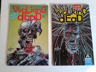 The Walking Dead #1 And Zombie Special #1 Aircel Comics 1989 1990 Vf/nm