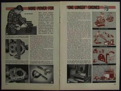 How-To Tune & Service One Lung Engines 1948 INFO Single Clyinder air cooled