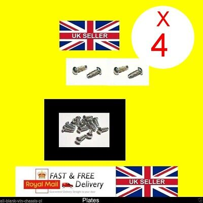 Car or Trailer VIN Plate Chassis Number ID Horse box quad bike Trailer FREE POST