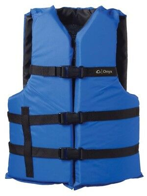 Onyx  General Purpose Universal Life Jacket, Blue USCG Approved CHOOSE SIZE