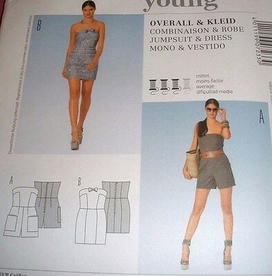 BURDA SEWING PATTERN 7233 Short Jumpsuit / Romper & Mini Dress 6-18 ...