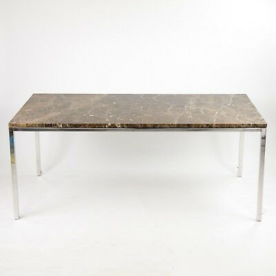 2009 Decca Granite Florence Knoll Dining Conference Table Eames Saarinen Custom