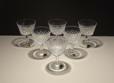6 Vintage Waterford Alana Liquor Cocktail Glasses ~ Made In Ireland