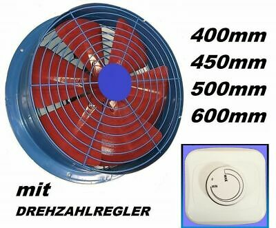 600mm Industrial Extractor + Controller Ventilation Air Ventilator wall Fan Fans