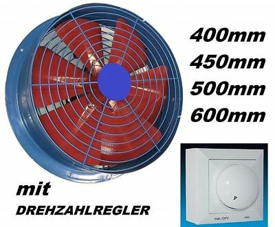 450mm Industrial Extractor +  Controller Ventilation Ventilator wall Fan Fans