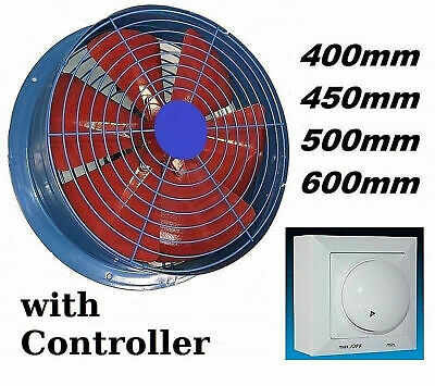 4100m³ Industrial Extractor + Controller Ventilation Ventilator wall Fan Fans