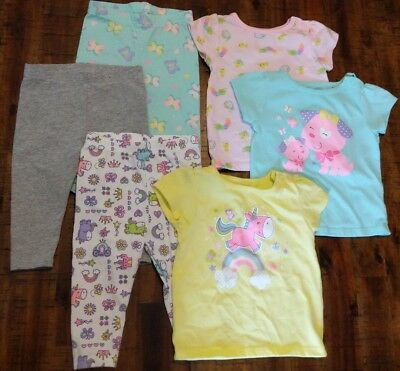 Baby Infant Girl Garanimals T-shirt And Leggings Sets of 3 Size 6-9 Months