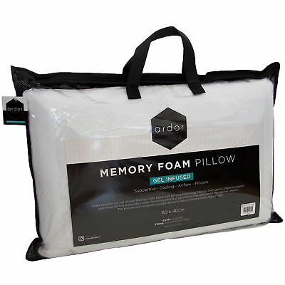 NEW Gel Infused Memory Foam Pillow Ardor Pillows