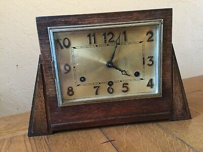 Westminster Chiming Mantle Clock British Anvil Beautiful 1930's Art Deco