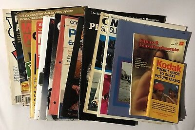 Vintage Large Lot 23 Photography Magazines Catalogs Books KODAK CANON CAMERAS