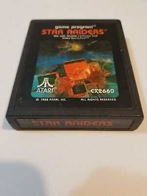 Star Raiders (Atari 2600, 1982) free shipping game only tested