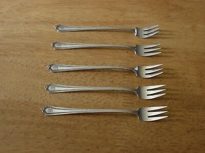 GORHAM Antique Sterling Silver PLYMOUTH 5 COCKTAIL FORKS c1911 Old Mark XC 204