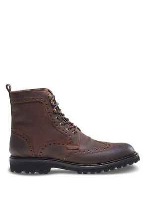 595cae3a93b Men's Wolverine Wingtip Percy Leather Lace Up Ankle Boots 11 msrp $295